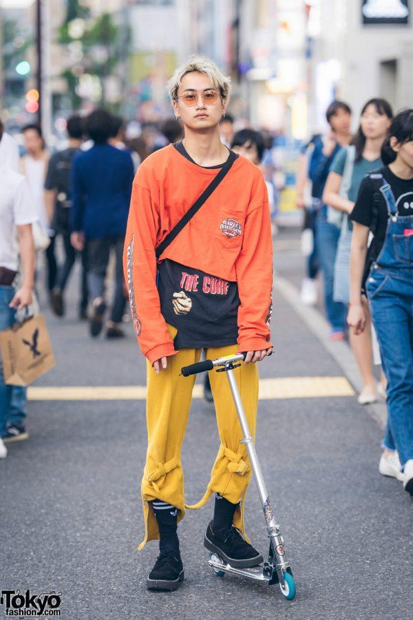 Harajuku Streetwear w/ The Cure Band T-Shirt, Harley Davidson, Nakid x G.V.G.V. & Banny Store