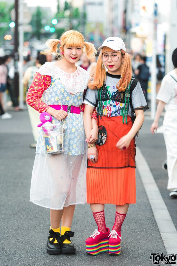 Sheer Nightwear as Outerwear Street Style w/ Kinji, Spinns, Tokyo Bopper, San-Biki no Koneko, Jeffrey Campbell & Spiral