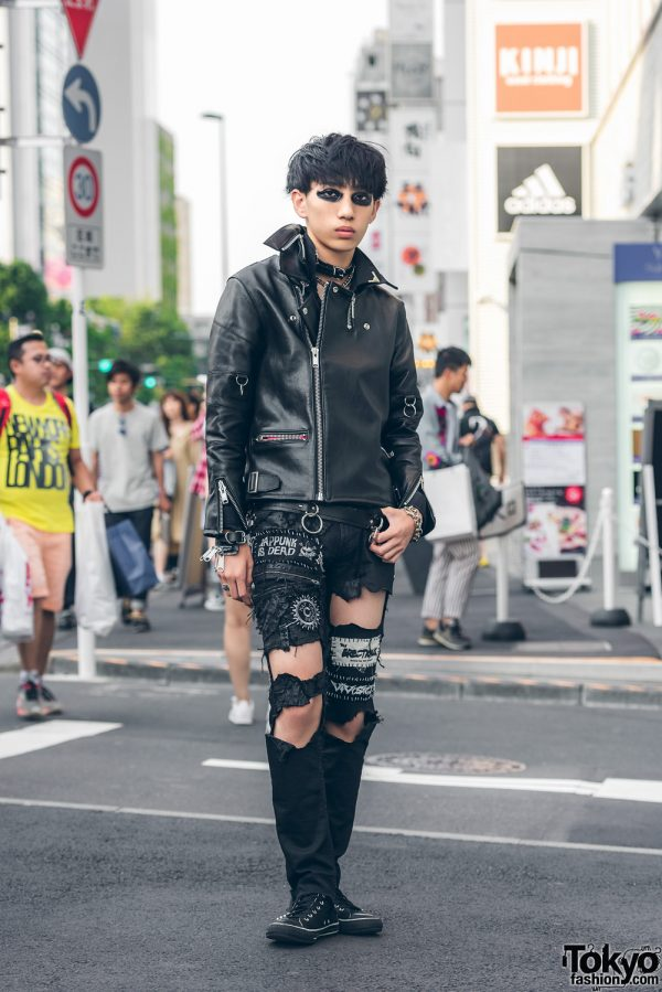 Harajuku Punk in Black Leather w/ Fetis, DIY, 666 Japan, Cody Sanderson & Converse