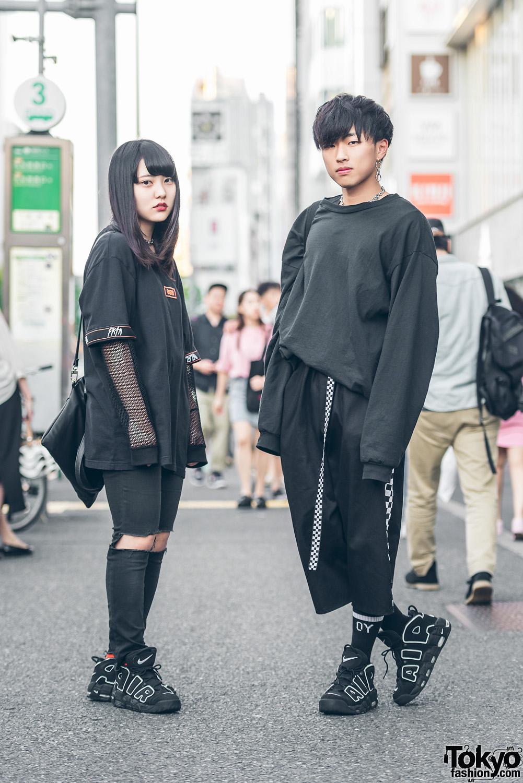 all black harajuku streetwear w never mind the xu from k