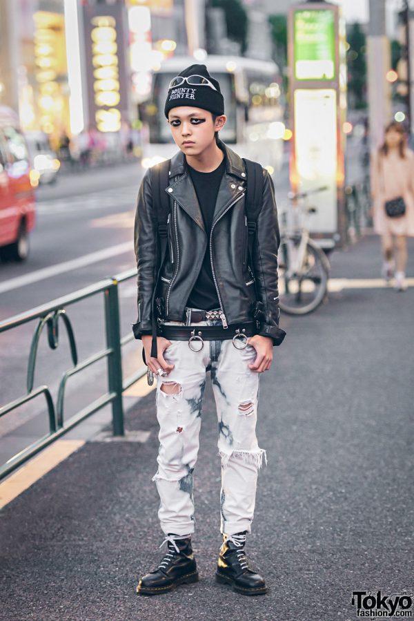 Harajuku Punk in Leather & Denim w/ 99%IS-, Bounty Hunter & Dr. Martens