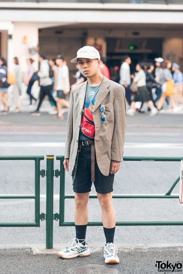 Blazer Streetwear Style in Harajuku w/ Yuki Torii, Asics, Faith Tokyo, Lancel & Open The Door