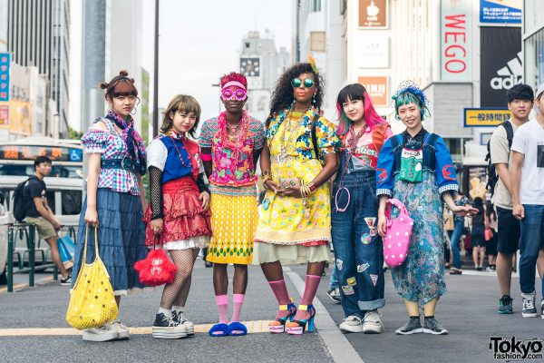 heARTofCOOL's Colorful Harajuku Street Styling by Fanatic Tokyo w/ Vintage, Hysteric Glamour, Moschino & Handmade Items