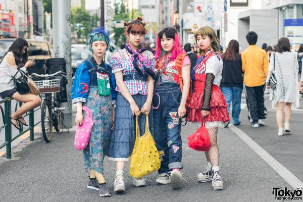 Fanatic Tokyo Girls in Colorful Harajuku Street Fashion w/ Kinji Vintage, Kurumiya, Big Time, Angel Blue & Takenoko