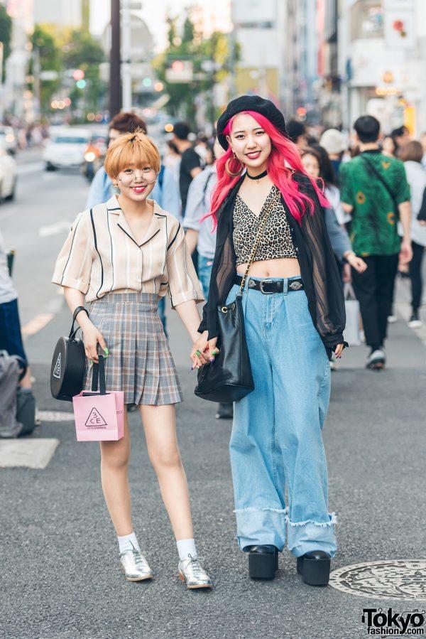 Harajuku Girls Denim, Leopard Print & Plaid w/ YRU, Chanel, Girls Rule & 3CE