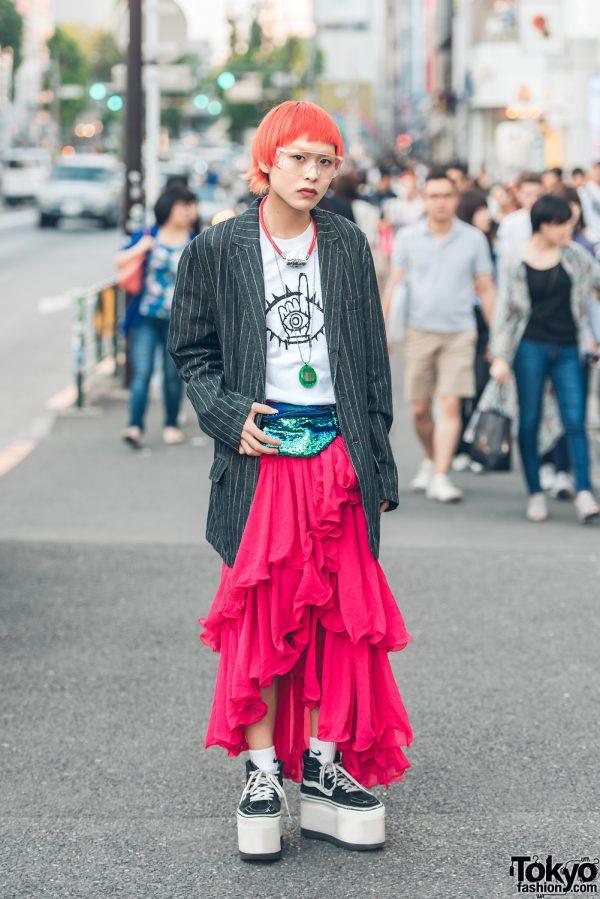 Nosuke's Harajuku Street Style w/ Kinji Resale Fashion, Vans & Tamagotchi Necklace