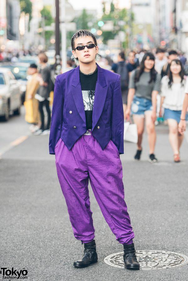 Purple Harajuku Mens Street Fashion w/ Kinji, Dolce & Gabbana, Sullen & T.A.S.