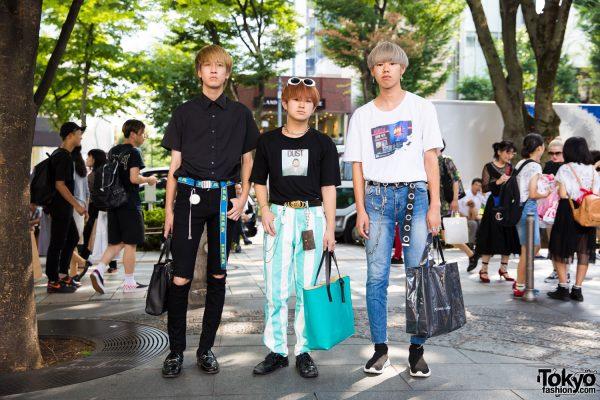 Harajuku Trio in Street Styles w/ Joyrich, Inc, Marni, Balenciaga, LV, Comme des Garcons & More Brands