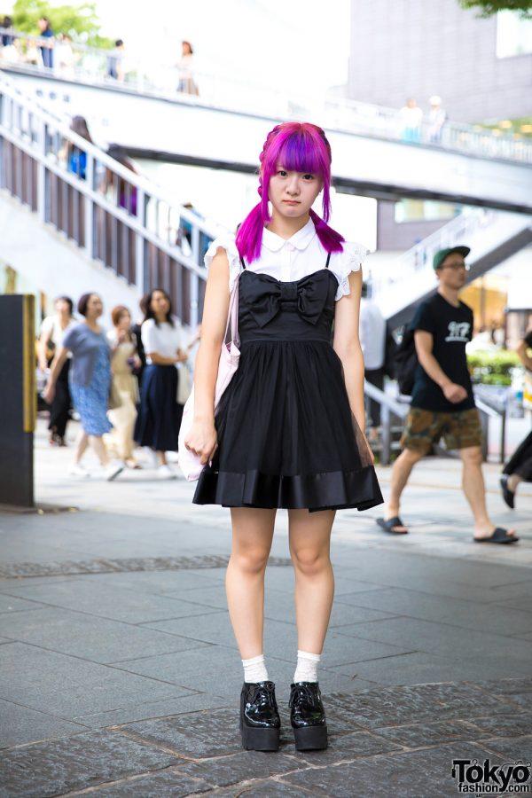 Harajuku Girl With Pink Braids Wearing One Spo, Bubbles & Honey Mi Honey Fashion