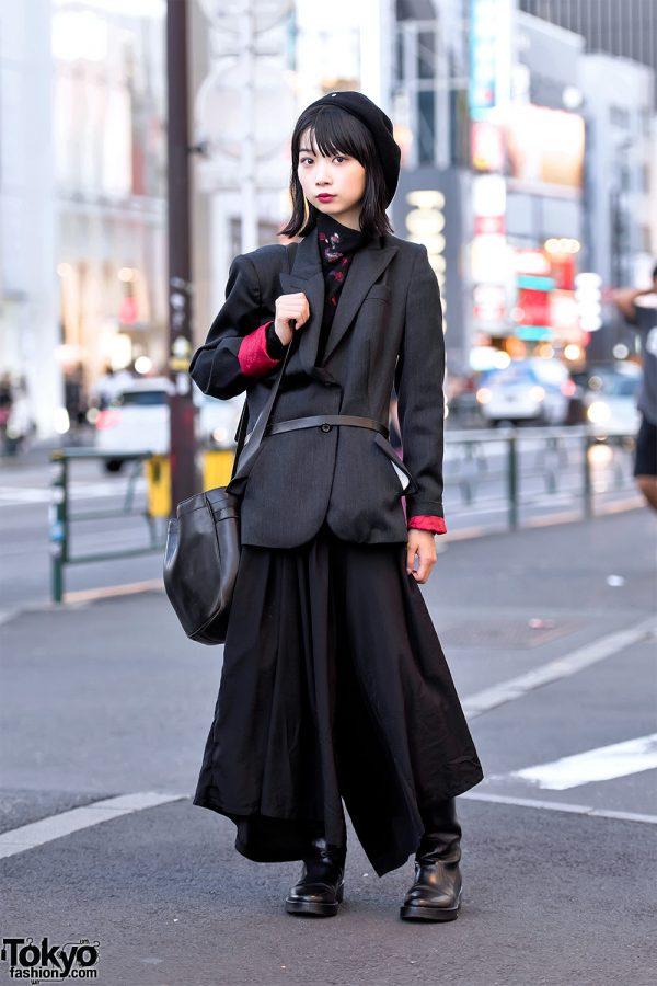 Dark Japanese Street Style w/ Alexander McQueen, Yohji Yamamoto & Kujaku