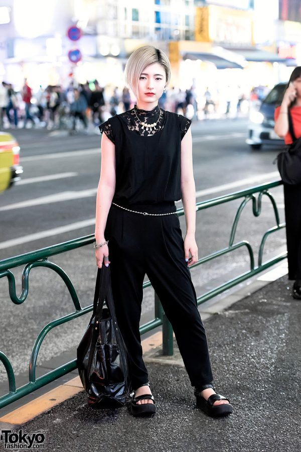 All Black Harajuku Street Style w/ Zucca, Tokyo Bopper & UNIQLO