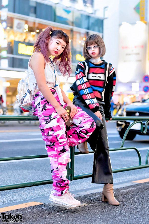 Harajuku Girls in Rothco Pink Camo Pants, Faith Tokyo, Ambush, Gucci & A Bathing Ape