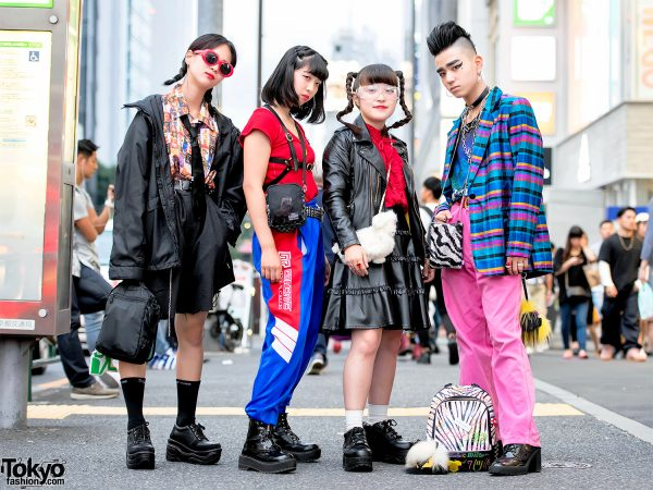 Harajuku Teens in Colorful Street Styles w/ Kinji Vintage, RRR, King Family, WEGO & Yosuke
