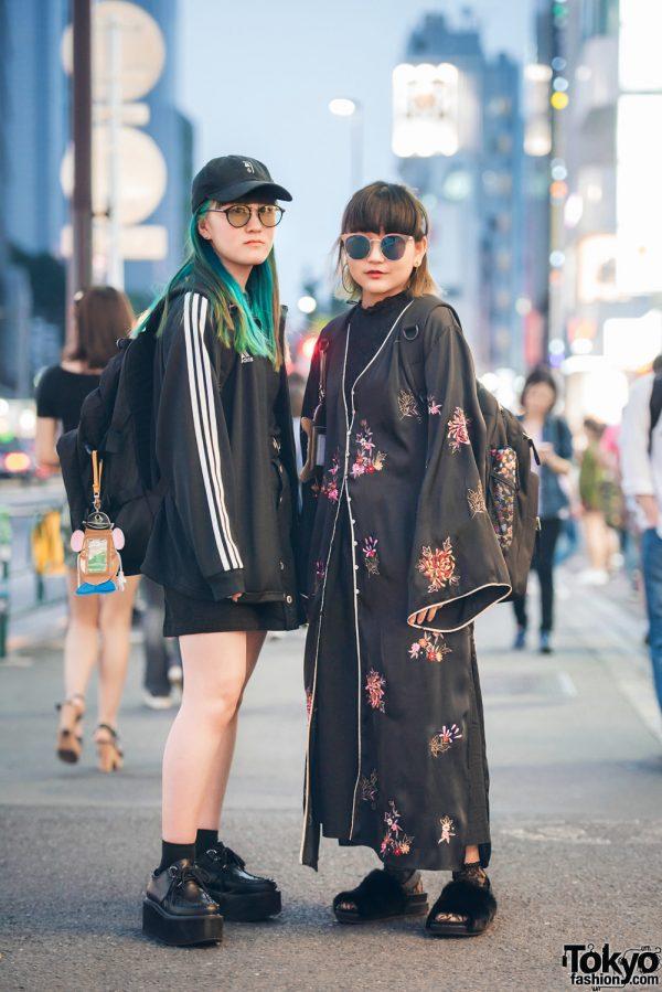 Harajuku Girls Street Styles w/ Kimono Coat, Sasquatch Fabrix, Yosuke, By Moss, Adidas & WEGO