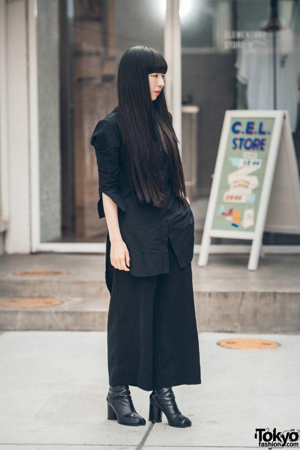 Dark Minimalist Japanese Street Style w/ Yohji Yamamoto & Martin Margiela Tabi Boots