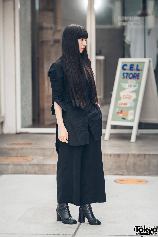 Dark Minimalist Japanese Street Style W Yohji Yamamoto Martin Margiela Tabi Boots
