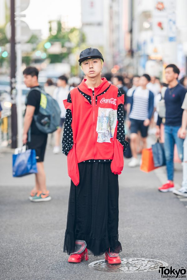 Harajuku Streetwear Style w/ Deconstructed Jacket, Comme des Garcons Play & Happening