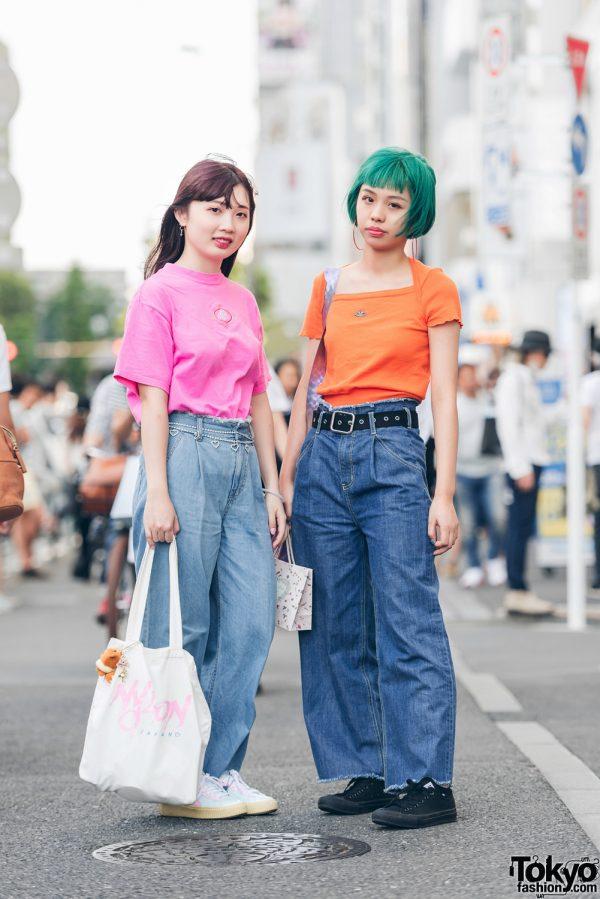 Harajuku Girls in Vintage Tees & Flared Denims w/ Jouetie, UNIF x Kiko, Nylon x Bubbles, Puma & Converse