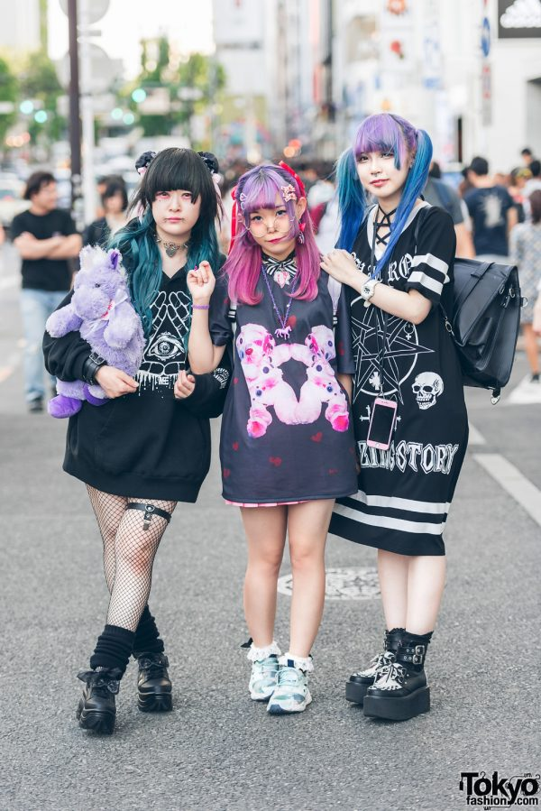 Harajuku Girls w/ Colorful Hairstyles in Candye Syrup, Listen Flavor, Nile Perch, Glad News, Ponicomonyura, Yosuke & WC