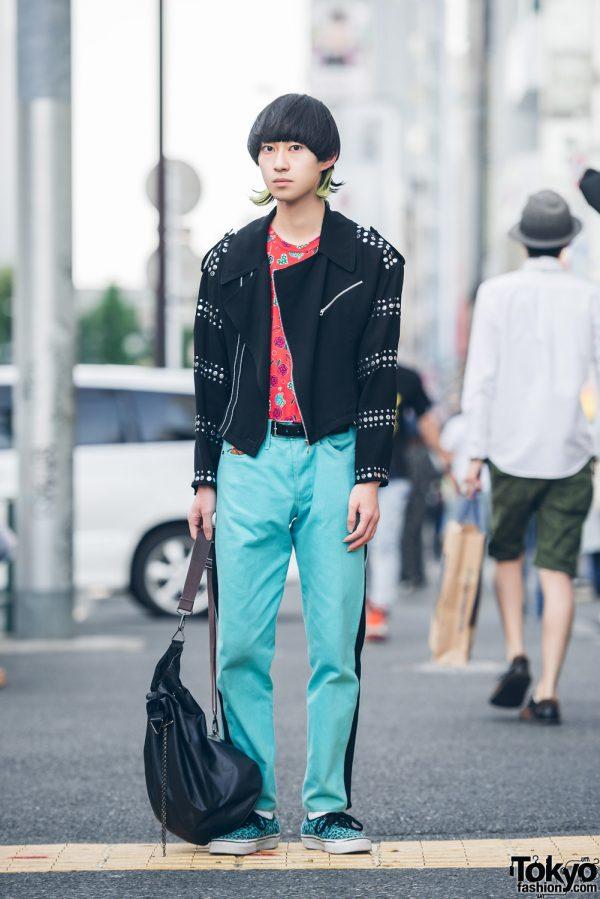 Harajuku Guy in Streetwear Fashion w/ Katharine Hamnett, Comme des Garcons Homme Plus, Vans, John Galliano & Jean Paul Gaultier