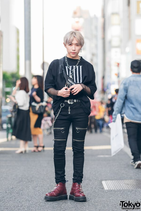 All Black Harajuku Street Style w/ Morph8ne, Another Youth, Dog Osaka, Pameo Pose & Dr. Martens
