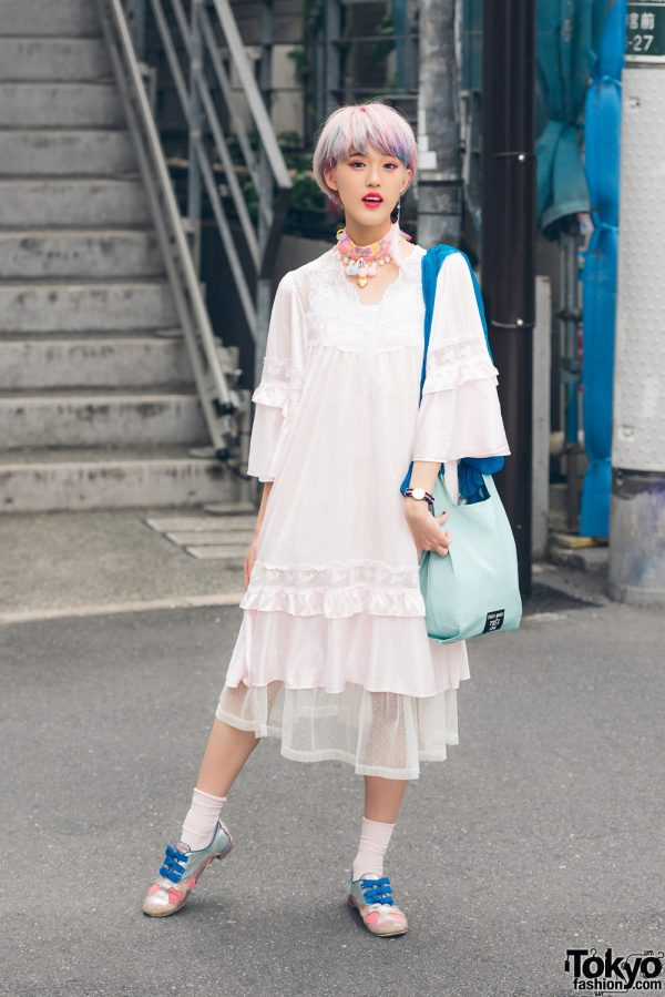 Harajuku Girl in Sheer Lace Dress Style w/ Kinji, Ding, Irregular Choice, Paris House & Hoyajuku