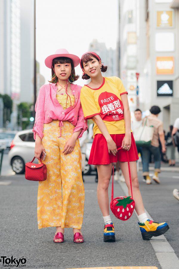 Red & Yellow Harajuku Street Styles w/ Punk Cake, Pin Nap, Pompom Shop, Kinji, Yosuke & Panama Boy