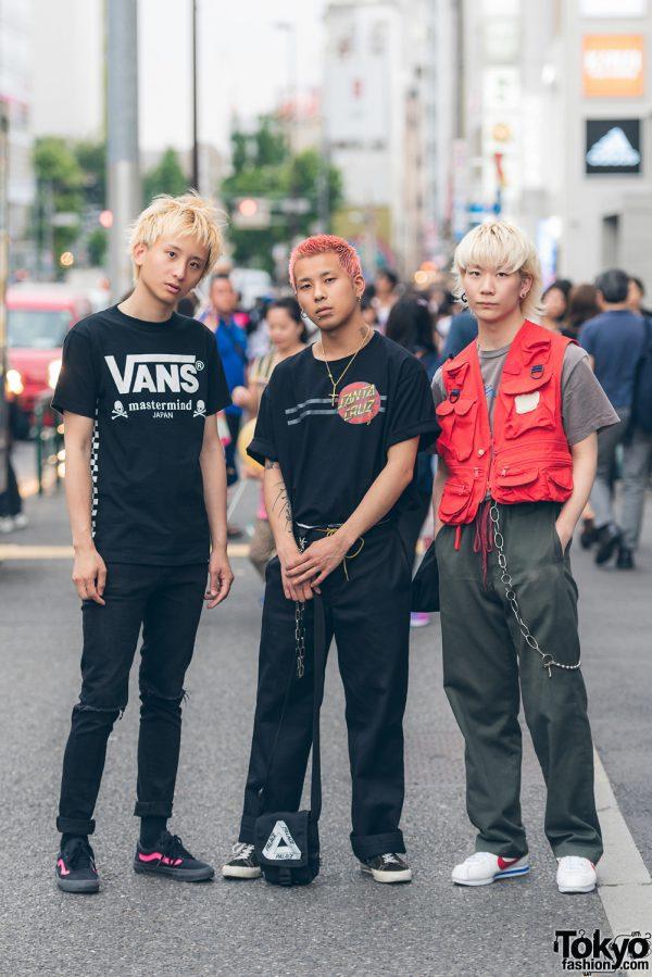 Harajuku Trio in Sporty Street Styles w/ Vans, Nike, Converse, Dickies, Stussy, Y-3, Palace & Santa Cruz