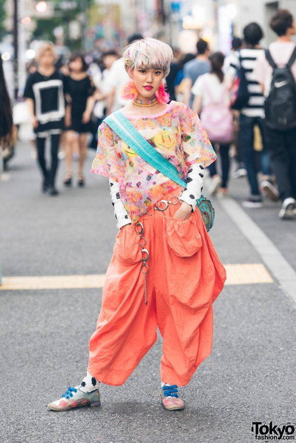 Pastel-Haired Harajuku Girl in Colorful Fashion w/ 6%DokiDoki, Galaxxxy, Irregular Choice, Dog Harajuku & JBCG