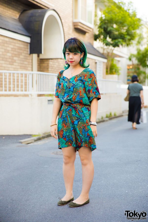 Harajuku Girl in All Over Print Fashion w/ Big Time, Gap, Santa Monica, Amijed & Titicaca