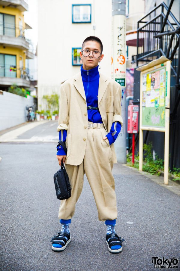 Harajuku Menu2019s Suit Streetwear Style W/ Adidas Thrasher New Balance U0026 Vintage Fashion
