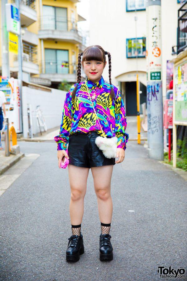 Colorful Print Harajuku Street Style w/ Kinji, Yosuke, Swimmer, The World Connection, & Hand-Me-Down Shorts