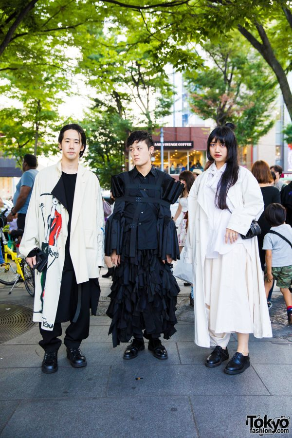 Monochrome Harajuku Streetwear w/ Yohji Yamamoto, Comme des Garcons & Justine Clenquet