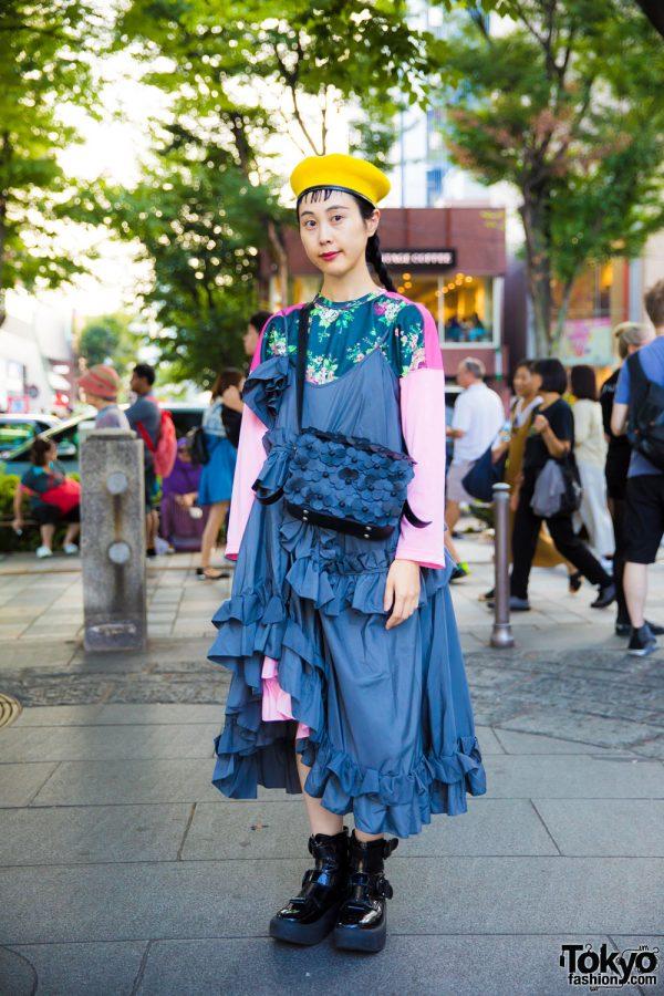 Layered Ruffle Dress Fashion in Harajuku w/ Anna K, Tokyo Bopper & Comme des Garcons