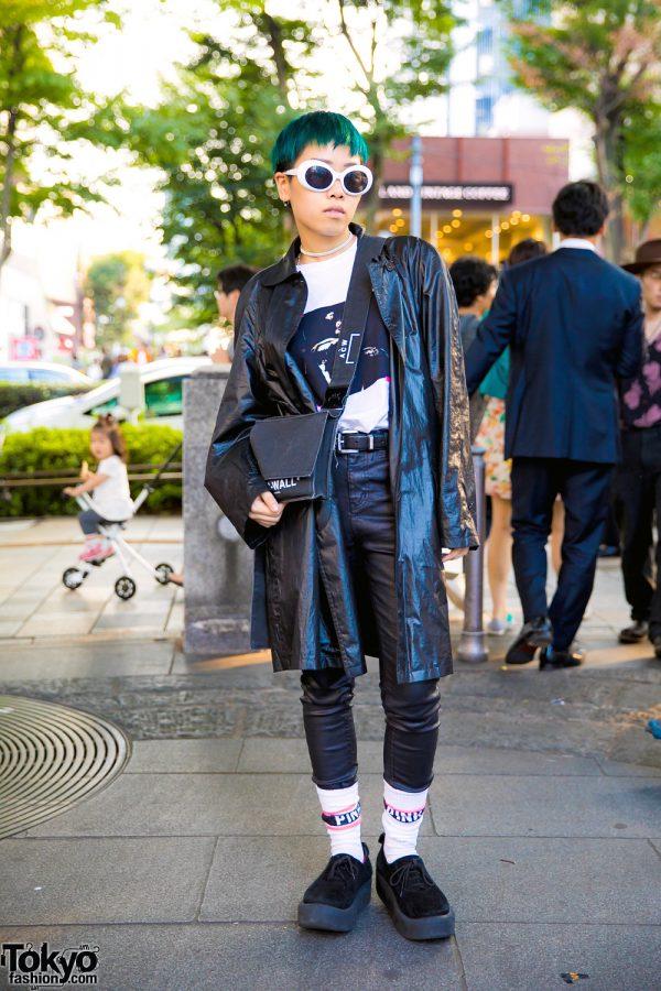 Green Hair & Monochrome Harajuku Fashion w/ Off-White, Bally, Style Nanda, Tokyo Bopper & A-Cold-Wall