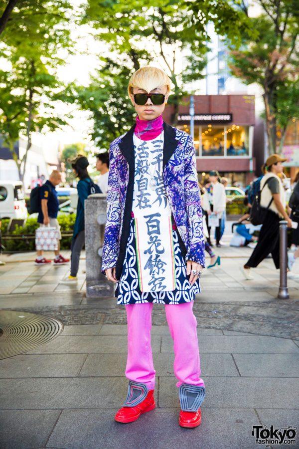 Kanji Print Harajuku Streetwear w/ Comme des Garcons, Yoko Ono, Happening & Tokyo Human Experiments