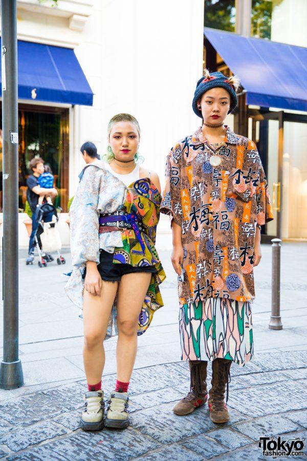 Dog Harajuku Duo in Colorful Vintage Street Styles w/ Hiroko Koshino, H&M & Gola