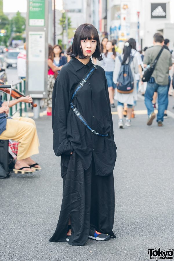 All Black Minimalist Japanese Streetwear in Harajuku w/ Kujaku, M.Y.O.B. & Nike
