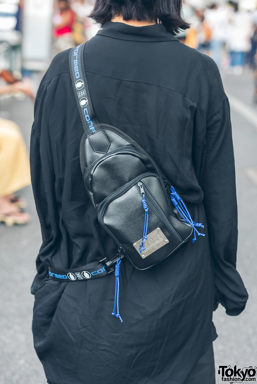 All Black Minimalist Japanese Streetwear In Harajuku W