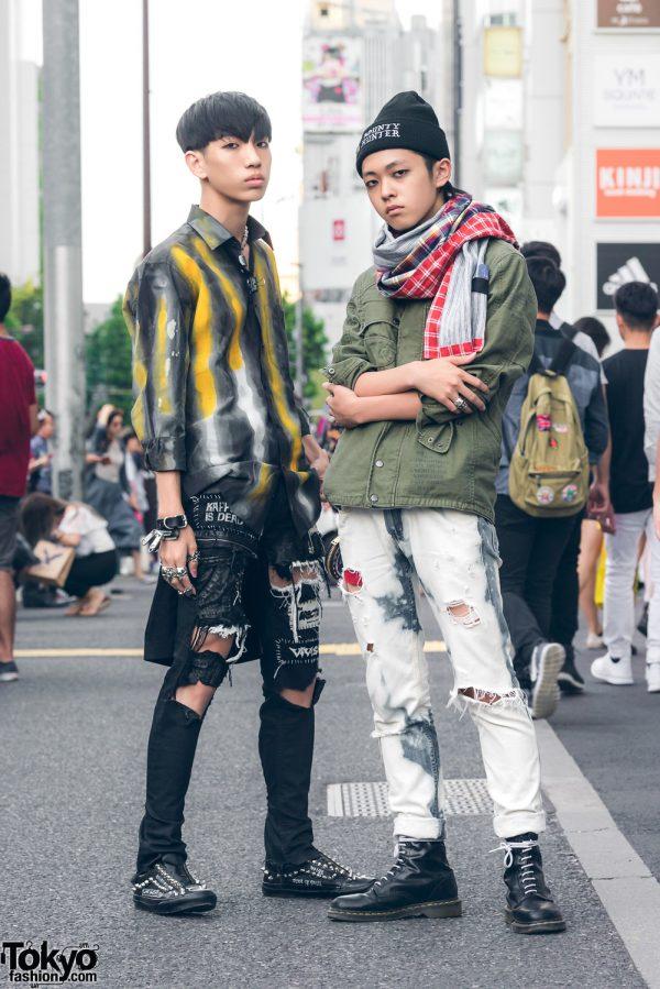 Harajuku Duo in Handmade Streetwear Fashion w/ Fetis, Tokyo Human Experiements, Bounty Hunter, Alma & Dr. Martens