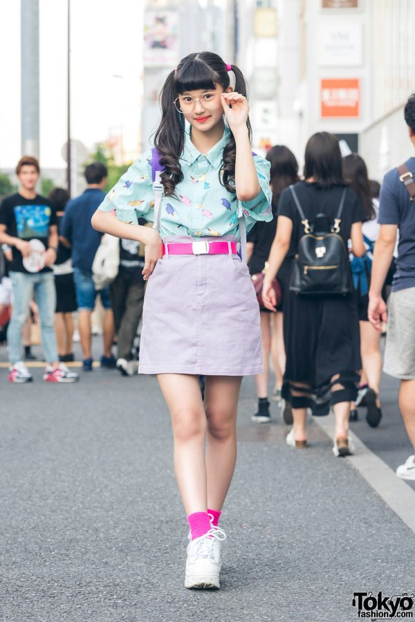 Harajuku Model/Actress in Pastel Popsicle Street Style w/ Peco Club, WEGO, Daiso & Forever 21