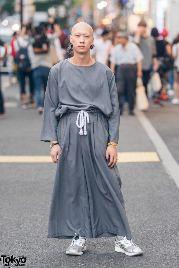 Keisuke Yoneda Japanese Streetwear Look in Harajuku w/ Puma & Vivienne Westwood