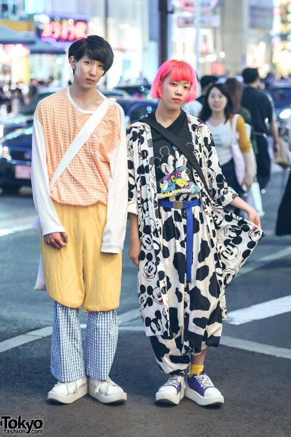 Harajuku Duo in All Over Print & Layered Fashion w/ San To Nibun No Ichi, Kinsella, Tokyo Bopper, Kinji & Kiramisa