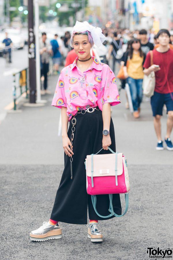 Harajuku Girl in Colorful Fashion w/ CawaiiTillIDie, Kinji, Happy Socks, Jeffrey Campbell & Amijed