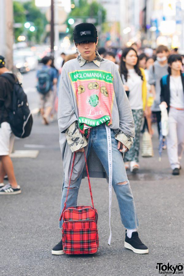 Harajuku Male Model in Streetwear by Vivienne Westwood, Stussy, Levi's, Celine, Comme des Garcons & Supreme