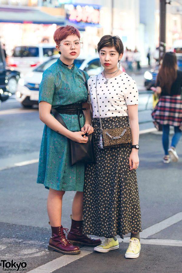 Harajuku Girls in Vintage Street Styles w/ Dr. Martens, Faith Tokyo, Emoda & Converse