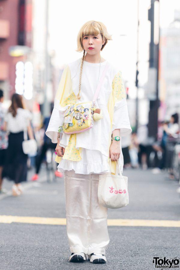 Light Harajuku Street Style w/ Kinji Vintage, Nike Air Rift, Handmade Bags & Misumi Ikaruga Pins