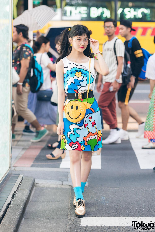 Hair Salon Model in Tokyo Vintage Streetwear w/ Colorful