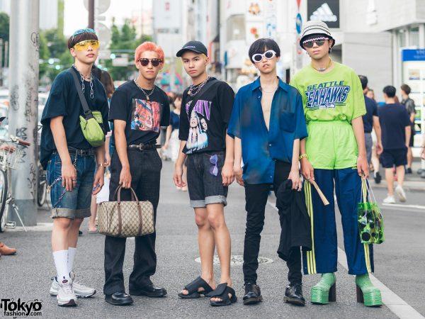 Harajuku Guys Streetwear Styles w/ Recluse, Nike, Places+Faces, Fendi, Gucci, Prada, Balenciaga, Versace & MISBHV