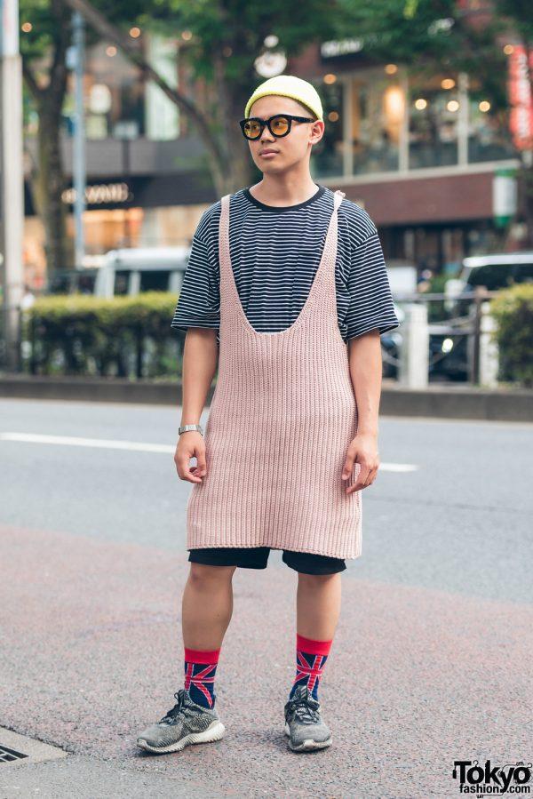 Harajuku Guy in Vintage Street Fashion w/ Adidas, Muji & A.D.S.R.